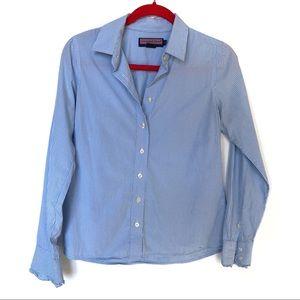 Vineyard Vines Gingham Ruffle Sleeve Shirt
